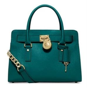 Michael Kors Hamilton Teal Satchel bag